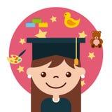 Gediplomeerde gelukkige student Royalty-vrije Stock Foto's