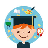 Gediplomeerde gelukkige student Stock Foto