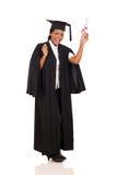 Gediplomeerde met diploma stock afbeeldingen