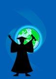 gediplomeerde met diploma Royalty-vrije Stock Afbeeldingen