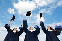 Gediplomeerde studenten Stock Fotografie