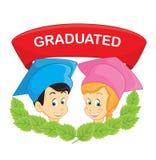 Gediplomeerde studenten vectorillustratie royalty-vrije illustratie