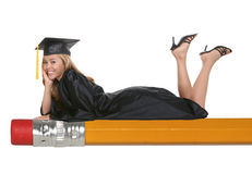 Gediplomeerde Vrouw stock foto's