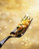 Gedobbelde groenten Stock Foto's