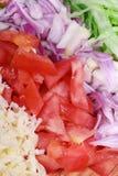 Gedobbelde groenten en kaas Royalty-vrije Stock Foto