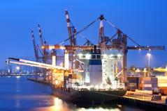 Gedokt Vrachtschip Stock Afbeelding