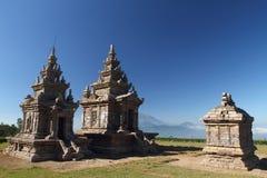 Gedongsongo Tercja Czwarty i Kwinty Świątynia, Zdjęcia Royalty Free