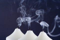 Gedoofde kaarsen Stock Fotografie