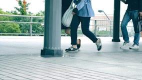 Gedränge und hastige Geschäftigkeit der Stadt Japan stock video footage