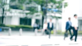 Gedränge und hastige Geschäftigkeit der Stadt Japan stock footage