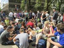 Gedrängt Pokemon-gehen Krisenherd Stockfotografie