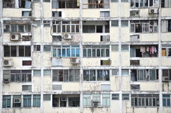 Gedrängte Ebenen in Hong Kong Stockfotografie