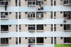 Gedrängte Ebenen in Hong Kong Lizenzfreies Stockfoto