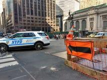 Gedrängte NYC-Straßen nahe Grand Central -Anschluss, New York, USA Lizenzfreie Stockfotos