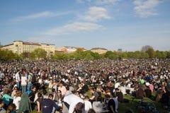 Gedrängter Park (Goerlitzer-Park) in Berlin, Kreuzberg während kann Lizenzfreie Stockfotos