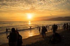 Gedrängter Sonnenuntergang Stockfoto