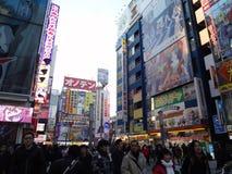 Gedrängtes Akihabara lizenzfreie stockfotografie