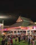 Gedrängtes Padang Merdeka Kota Kinabalu Sabah Stockbild
