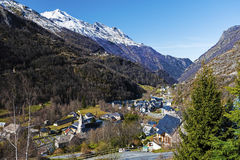 Gedre village in French Pyrenees Royalty Free Stock Images
