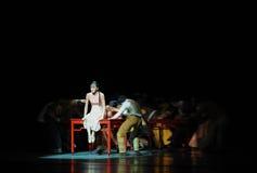 Gedreven aan de afleiding-lange liefde de weg-eerste handeling van de gebeurtenissen van dans drama-Shawan van het verleden Stock Foto