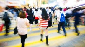 Gedrängt gesehen in im Stadtzentrum gelegenem Hong Kong Stockfotografie