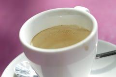 Gedronken omhoog espresso royalty-vrije stock fotografie