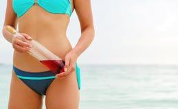 Gedronken zwemmen is gevaarlijk royalty-vrije stock foto's