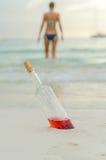 Gedronken zwemmen is gevaarlijk royalty-vrije stock foto