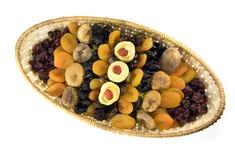 Gedroogd fruit in een mand Royalty-vrije Stock Fotografie