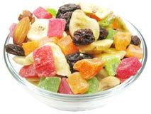 Gedroogd fruit en notenmengeling Royalty-vrije Stock Foto's