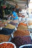 Gedroogd fruitmarkt royalty-vrije stock foto's