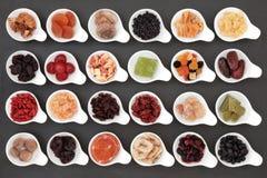 Gedroogd fruitselectie royalty-vrije stock fotografie