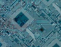 Gedruckter dunkelblauer industrieller Hintergrund Lizenzfreie Stockbilder