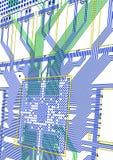 Gedrucktes Leiterplatte lizenzfreies stockfoto