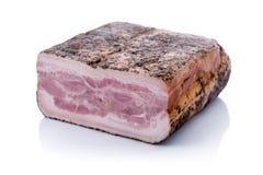 Gedrukt Bacon met Peper stock fotografie