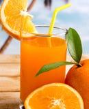 Gedrukt Oranje Vers Juice Represents Citrus Fruit And royalty-vrije stock foto
