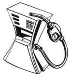 Gedrukte benzinepomp Royalty-vrije Stock Afbeeldingen