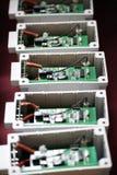 Gedrukte kringen in elektrische transformatoren royalty-vrije stock foto's