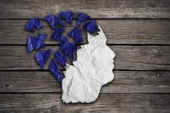 Geduldig medisch geestelijk de gezondheidszorgconcept van Alzheimer Royalty-vrije Stock Foto's