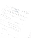 Geduldige Form Lizenzfreies Stockbild