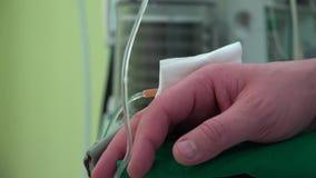 Geduldige Hand-und Anästhesie-Ventilator-Atmungsmaschine stock video footage