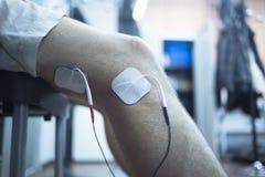 Geduldige Kniephysiotherapie rehabiliation Behandlung Stockfotografie