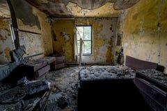 Geduldiger Raum - verlassenes Krankenhaus u. Pflegeheim Lizenzfreie Stockfotos