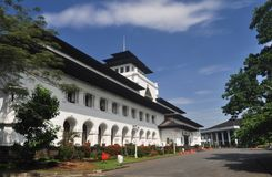 Gedung Sate Building in Bandung 2. Gedung Sate is a public building in Bandung, West Java, Indonesia. It was designed according to a neoclassical design royalty free stock photography