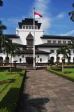 Gedung Sate Building in Bandung 2. Gedung Sate is a public building in Bandung, West Java, Indonesia. It was designed according to a neoclassical design royalty free stock photo