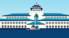Free Gedung Sate Vector Tracing Stock Photos - 176016723