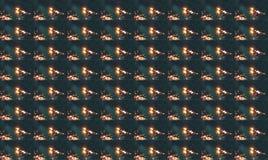 GEDUPLICEERD BEELD VAN ZONNESTRAAL DOOR GEBLADERTE stock foto