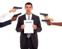 Gedwongen contract stock afbeelding