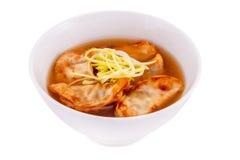 Gedza soup. On a white background Stock Photos