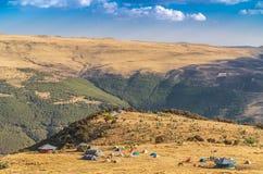 Geech obóz w Simien gór obywatelu Parc obraz stock